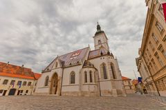 Church of St. Mark (XIII c.). Croatia Royalty Free Stock Photos