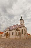 Church of St. Mark (XIII c.). Zagreb, Croatia Stock Photography