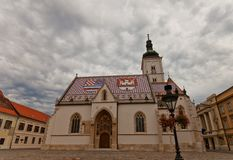 Church of St. Mark (XIII c.). Zagreb, Croatia Royalty Free Stock Image