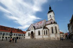 The Church of St. Mark in Zagreb Royalty Free Stock Photos