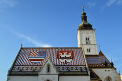 Church of St. Mark, Zagreb Royalty Free Stock Image