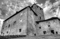 The church of St. Martin in black and white Stock Photography