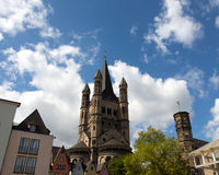 Church of St. Martin in Cologne in Germany Royalty Free Stock Photos