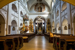 Church of St. Martin - interiour Stock Images