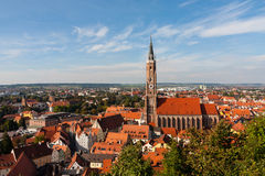 Church of St. Martin in Landshut. The Church of St. Martin in Landshut is a medieval church in that German city. St. Martin's Church, along with Trausnitz Castle Royalty Free Stock Images