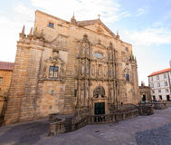 Church of St. Martin Pinario in Santiago de Compostela. View of the Church of St. Martin Pinario in Santiago de Compostela Royalty Free Stock Images