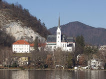 Church of St. Martin. Resort of Bled. Slovenia Royalty Free Stock Photography