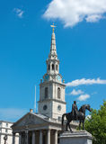 The church of St Martin's-in-the-Field London near Trafalgar Squ. Are Royalty Free Stock Photos