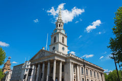 The church of St Martin's-in-the-Field London near Trafalgar Squ. Are Royalty Free Stock Photo
