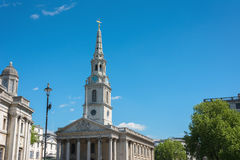 The church of St Martin's-in-the-Field London near Trafalgar Squ. Are Stock Photography