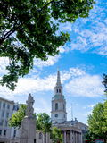 Church of St Martin's-in-the-Field on  Trafalgar Square. Lon Stock Photography