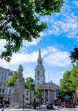 The church of St Martin's-in-the-Field on  Trafalgar Square. London. UK Stock Image