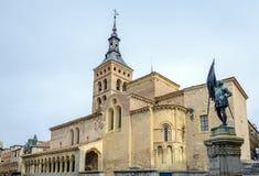 Church of St. Martin Segovia Stock Photos