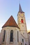 Church of St Martin at sunrise in Chur Royalty Free Stock Photos