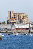 Church of St. Mary of the Assumption in Castro Urdiales Stock Image