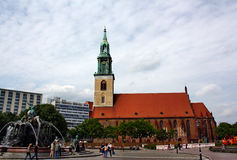 Church of St. Mary in Berlin Royalty Free Stock Photos