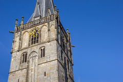 Church of st. Mary on the central square of Ahaus. Germany Stock Photos