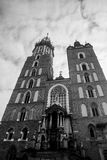 Church of St. Mary and the Cloth Hall in the main  Stock Photography