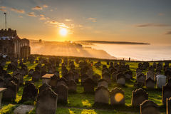 Church of St Mary graveyard sunset Royalty Free Stock Photo