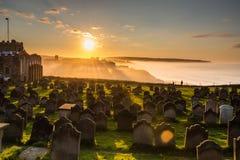 Church of St Mary graveyard sunset Royalty Free Stock Photo