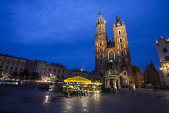 Church of St. Mary in Krakow Main Market Square Royalty Free Stock Photos