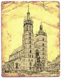 Church of St. Mary. Krakow. Poland Royalty Free Stock Images