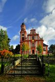 Church of St. Mary Magdalene. In Marenice - Czech Republic Stock Photo
