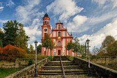 Church of St. Mary Magdalene. In Marenice - Czech Republic Royalty Free Stock Photography