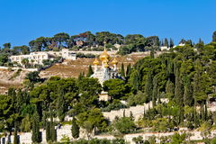 Church of St. Mary Magdalene . Jerusalem Stock Photos