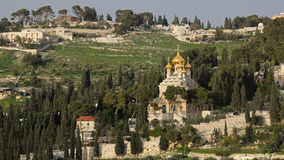 Church of St. Mary Magdalene, Jerusalem, Israel. Russian orthodox church of St. Mary Magdalene on the Mount of Olives, Jerusalem, Israel royalty free stock photos