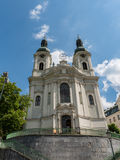 Church of St. Mary Magdalene in Karlovy Vary. Czech Republic stock images