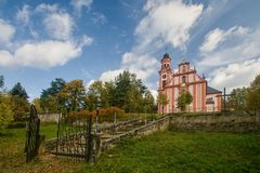 Church of St. Mary Magdalene. In Marenice - Czech Republic Stock Photography