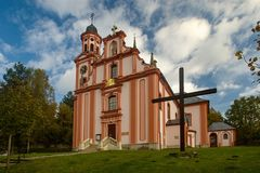 Church of St. Mary Magdalene. In Marenice - Czech Republic Royalty Free Stock Images