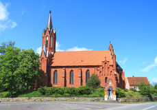 Church of St. Mary Magdalene and St. Valentine. LUTRY, POLAND — MAY 11, 2014: Church of St. Mary Magdalene and St. Valentine Stock Images