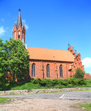 Church of St. Mary Magdalene and St. Valentine. LUTRY, POLAND — MAY 11, 2014: Church of St. Mary Magdalene and St. Valentine Royalty Free Stock Photos
