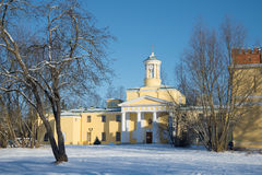 The church of St Mary Magdalene, sunny February day. Pavlovsk, St. Petersburg suburbs, Russia. The church of St Mary Magdalene, sunny February day. Pavlovsk, St royalty free stock photo