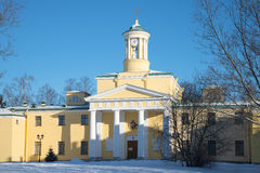 The church of St Mary Magdalene. Sunny winter day. Pavlovsk. The church of St Mary Magdalene. Sunny winter day, Pavlovsk royalty free stock photos