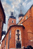 Church of St. Mary in the main Market Square. Krakow. Royalty Free Stock Photos