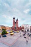 Church of St. Mary in the main Market Square. Krakow. Stock Photos