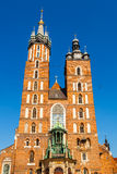 Church of St. Mary in the main Market Square. Krakow. Royalty Free Stock Images