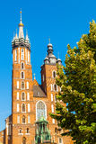 Church of St. Mary in the main Market Square. Krakow. Royalty Free Stock Image