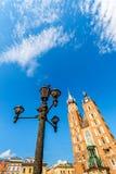 Church of St. Mary in the main Market Square. Krakow. Royalty Free Stock Photos