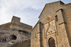 Church of St. Mary Major and Castle of Alcaudete, Jaen (Spain) Royalty Free Stock Photos