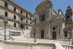 Church st. mary of mount caltagirone catania sicily Italy europe stock photography
