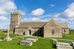 Church of St Materiana near Tintagel castle Cornwall Stock Photo