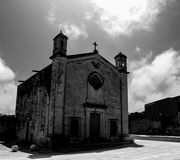 The Church of St. Matthew. In black and white located in Qrendi Malta Stock Images