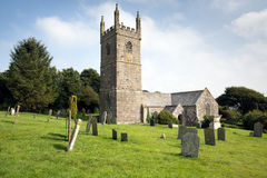 Church of St Mawgan in Meneage Cornwall England located on The Lizard peninsula south of Helston Stock Image