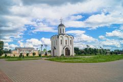 The Church of St.Michael the Grand Prince of Tver, who is known as heavenly patron of city of Tver, Russia, Tver. Summer landscape evokes admiration by cheerful Royalty Free Stock Photography