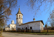 Church of St. Michael Malein on Mihailov Street and the Church of the Nativity of the Virgin on Mihalitsa street in Veliky Novgoro Royalty Free Stock Photo
