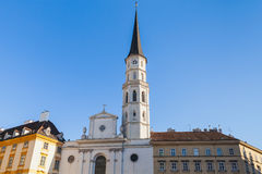 Church of St. Michael in sunny day. Vienna Royalty Free Stock Photos